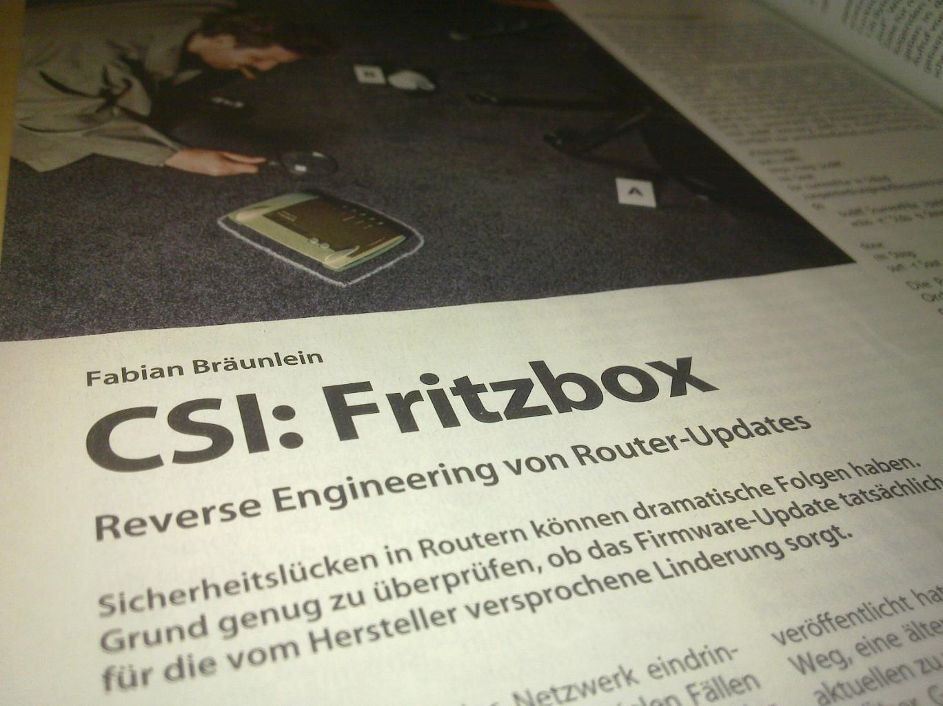 CSI: Fritzbox - Reverse Engineering von Router-Updates