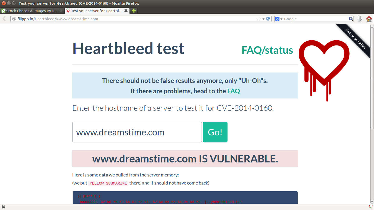 A new tab is opened when you visit a vulnerable site for the first time of the browser session